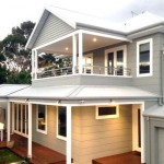 Modern weatherboard home with aluminium windows